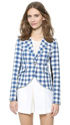 Smythe Gingham One Button Blazer Blue Check