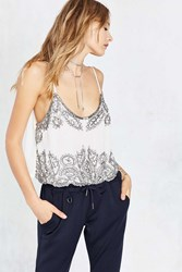 Angie Liv Embellished Cami White