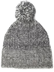 Rag And Bone Rag And Bone 'Makenna' Bobble Beanie Grey