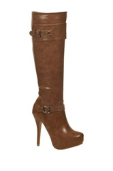 Nature Breeze Amber Stiletto Boot Brown