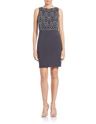 Patra Beaded Popover Dress Grey