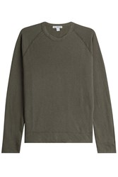 James Perse Cotton Sweatshirt Green