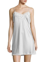 Lauren Ralph Lauren Plus Size Satin Chemise Grey