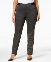 Jm Collection Plus Size Pull On Pants Only At Macy's Charcoal Nite