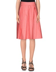 Made For Loving Skirts Knee Length Skirts Women Coral