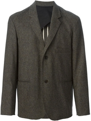 Christophe Lemaire One Button Blazer Brown