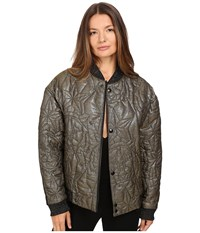 Just Cavalli Glitter Tiger Embroidered Oversized Bomber Gold Women's Coat