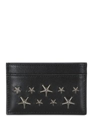 Jimmy Choo Stars Studs Leather Credit Card Holder