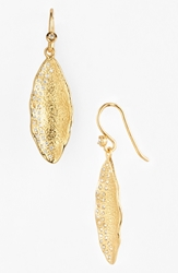 Melinda Maria 'Mademoiselle' Pod Drop Earrings Gold Clear