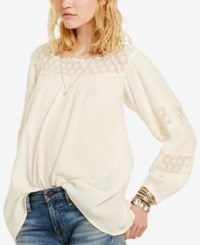 Denim And Supply Ralph Lauren Square Neck Blouse Antique Cream