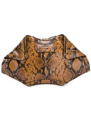 Alexander Mcqueen 'De Manta' Clutch Brown