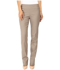 Lisette L Montreal Solid Magical Lycra True Straight Mushroom Women's Casual Pants Gray