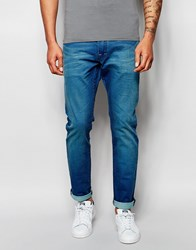 Scotch And Soda Slim Jeans In Summer Spirit Wash Blue