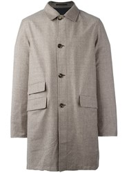 Kiton Reversible Single Breasted Coat Brown