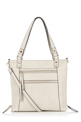 Oasis Katie Zip Satchel Light Grey