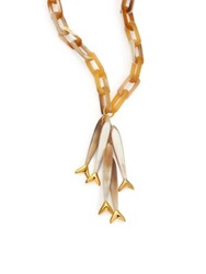 Maiyet Blonde Horn Multi Baby Fish Pendant Necklace Gold Blonde