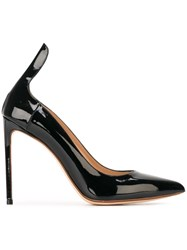 Francesco Russo Pointed Toe Pumps Black