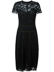 Valentino Heavy Studded Lace Dress Black