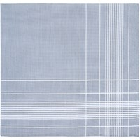 Simonnot Godard Men's Fine Striped Handkerchief Silver