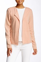 Heather By Bordeaux Seam Detail Long Sleeve Cardigan Pink