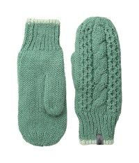 The North Face Cable Knit Mitt Deep Sea Subtle Green Extreme Cold Weather Gloves