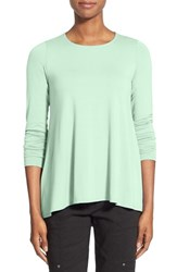 Women's Eileen Fisher Flowy Crewneck Tunic Green Mint