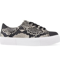 Miss Kg Loco Snake Print Trainers Beige Comb