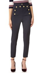 Red Valentino High Rise Skinny Pants Blue