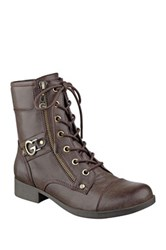 G By Guess Bates Lace Up Boot Brown