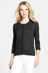 Women's Kate Spade New York 'Somerset' Cotton Blend Cardigan Black