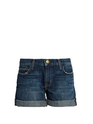 Current Elliott The Boyfriend Low Slung Rolled Shorts Mid Blue
