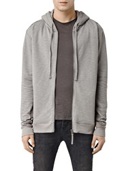 Allsaints West Full Zip Hoodie Putty Grey