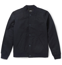 A.P.C. Kenickie Cotton And Linen Blend Bomber Jacket Blue