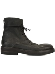 Marsell Marsa Ll Wrap Around Lace Boots Black