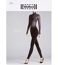 Wolford Elasticated Velvet Leggings Nightshade