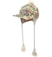 Gucci Floral Tapestry Wool Baseball Cap Grass Green Ivory
