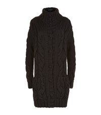 Dolce And Gabbana Chunky Knit Cardigan Female Black