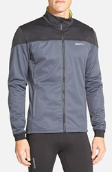 Men's Craft 'Voyage Outdoor' Zip Training Jacket Asphalt Black Flumino