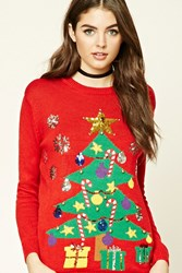 Forever 21 Light Up Holiday Tree Sweater