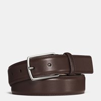 Coach Modern Harness Smooth Leather Belt Dark Brown