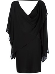Gareth Pugh Short Cowl Woven Dress Black
