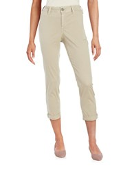 Nydj Petite Cropped Chino Pants Soft Taupe