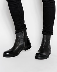 Selected Homme Wayne Leather Boots Black