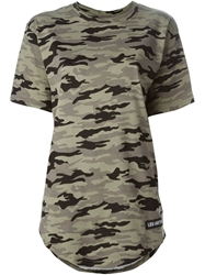 Les Artists Les Art Ists 'Margiela 57' Camouflage T Shirt Green