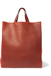Jil Sander Leather And Suede Tote Brown