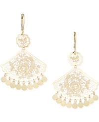Macy's Filigree Fan Chandelier Earrings In 14K Gold Yellow Gold