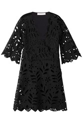 See By Chloe Embroidered Cotton Dress Black