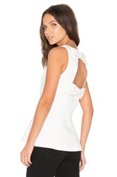 Kate Spade Double Bow Open Back Peplum Top Ivory