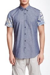 Antony Morato Contrast Sleeve Slim Fit Shirt Blue