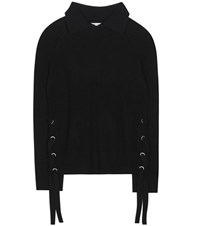 Frame Le Side Tie Cashmere Sweater Black